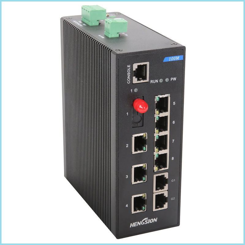 Professional access point 10 port Network Switch 7 * 100 Base TX + 1 * 100 Base FX + 2 * 100 / 1000 Base - TX
